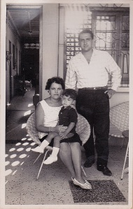 Mom, Dad and me. My father set up the camera and had someone else fire the shutter. circa 1964 in Cumana, Venezuela
